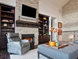 stone wall fireplace kirkland custom living room with fireplace stone accent wall