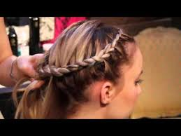hair braid across back of head how to do an around the head braid youtube