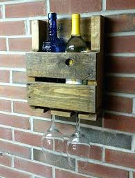 wall mounted wood wine glass holder hanging wooden wine glass rack