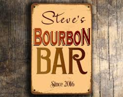 bourbon sign bourbon sign etsy