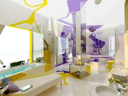 designs by style purple white bedroom decor cubism in interior