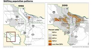 Oregon County Map by In Portland U0027s Heart 2010 Census Shows Diversity Dwindling