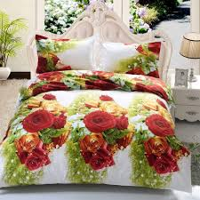 rose garden print 3d duvet cover sets
