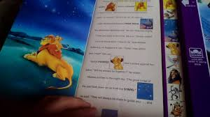 lion king disney golden books electronic storybook push button