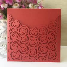 50pcs glossy paper wedding invitations decoration place