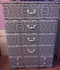 Update A Dresser Diy Zebra Print On Laminate Wood Dresser No Painting Required