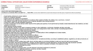 Sample Resume For Correctional Officer by Correctional Officer And Jailer Job Title Docs