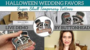Halloween Wedding Favors Halloween Wedding Favors Sugar Skull Wedding Favors Temporary
