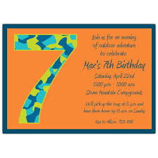 beautiful sample 7th birthday invitation card following rustic