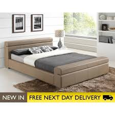 durham faux leather stone double bed cheapest durham 4ft6 bed