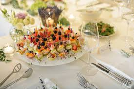 food tables at wedding reception wedding reception place ready for guests table with food and