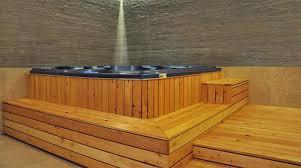 pedana legno minipiscina in pedana a gradoni di legno teak