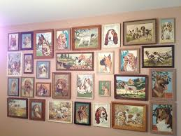 dig the look of vintage paint by number collage walls live