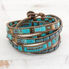 wrap bracelet with beads images Colorful glass beaded wrap bracelet from guatemala traditional jpg
