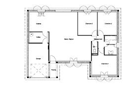 plan maison rdc 3 chambres plan maison rdc 1 chambre