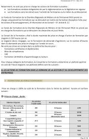 extrait d1 chambre des m騁iers fonds regional de formation crma provence alpes cote d azur pdf