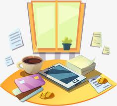 bureau dessin dessin de bureau bureau de la fenêtre dessin de café image png