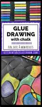 glue drawing with chalk centre sensory art and art classroom