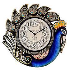 wall watch buy vintage clock handicraft peacock blue wall clock one year
