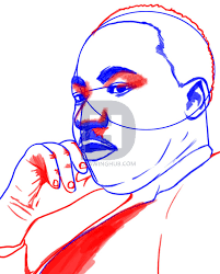 how to draw martin luther king jr step by step drawing guide by