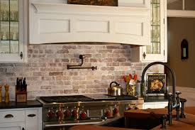 brick backsplashes for kitchens philadelphia brick backsplash kitchen farmhouse with wood home