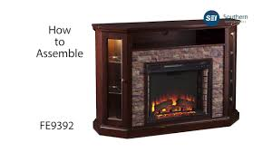 fe9392 redden corner convertible electric media fireplace
