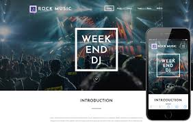 entertainment music video share sale mobile website template