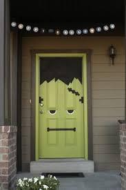 Frankenstein Door Decoration 45 Diy Halloween Decorating Ideas Frankenstein Front Doors And