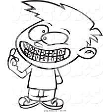 teeth with braces clipart 12