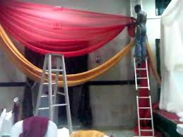 How To Hang Ceiling Drapes For Events How To Do Wedding Decor Swag Youtube