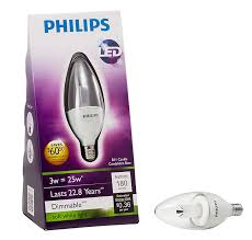 Small Base Led Light Bulbs by Led Candle 046677421007 Philips