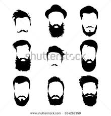hipster beard detailed beard beard hair stock vector 381426361