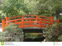 Pas Japonais Lumineux by Pont Japonais Orange Lumineux Aux Jardins De Descanso Photo Stock