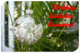 diy wedding invitation ornament the thinking closet