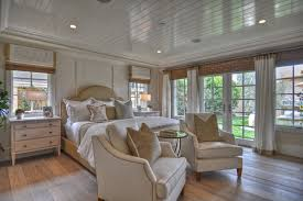 Beach Style Master Bedroom French Door Shades Bedroom Beach Style With Recessed Lighting