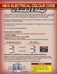 summary of new electrical wiring colour code trinidad u0026 tobago