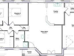 plan de maison gratuit 3 chambres plan maison 80m2 plein pied plan maison 120m2 3 chambres 5 plan