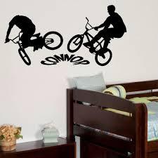 popular custom vinyl wall graphics buy cheap personalised bmx bike large children bedroom wall mural sticker graphic vinyl custom made any name diy