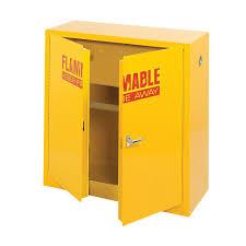 Yellow Flammable Storage Cabinet Sandusky 44 In H X 43 In W X 18 In D Steel Freestanding