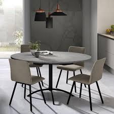 table cuisine grise table de cuisine ronde comment la choisir
