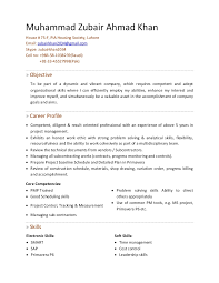 Sample Resume For Financial Analyst Entry Level by Zubair C V For Project Planning Engineer