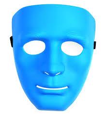 plain mask 4color plastic plain mask masquerade party costume crew