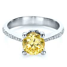 canary engagement ring canary yellow engagement ring 1291
