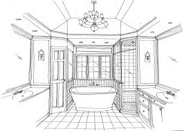 interior designing sketches sketch for interior bathroom sketches