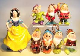 snow white and seven dwarfs ornament set schmid from our schmid
