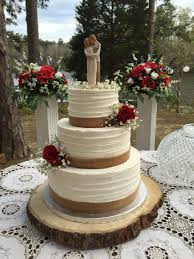 wedding cake m s 3 tier rustic buttercream wedding cake with burlap and roses