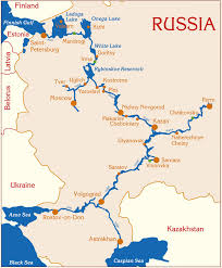 map of europe and russia rivers river