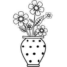 easy flower vase drawing drawing of sketch