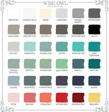 wise owl paint u0027s color selection guide wise owl chalk synthesis