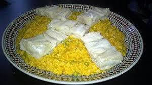 cuisiner poisson blanc recette de poisson blanc sur lit de riz au petit pois par mes